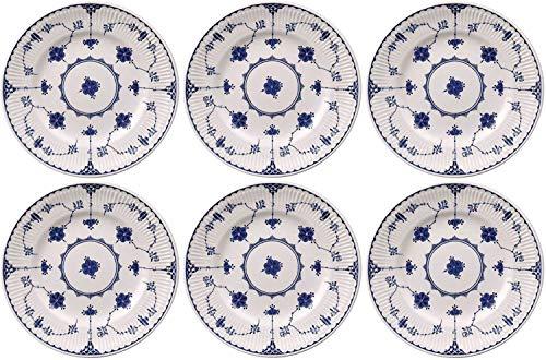 WYMF-Johnson Bros Dinamarca - Juego de 6 platos (25 cm), color azul