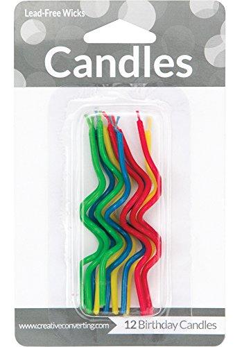 Creative Converting Birthday Cake Candle, 3.25', Multicolored