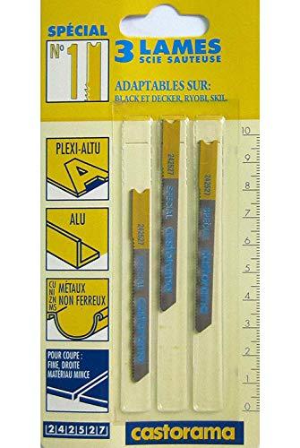 3 Stichsägeblätter No. 1 U-Schaft, für Metall, Alu, Plexiglas, Bosch Nummer U18A