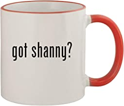 got shanny? - 11oz Ceramic Colored Rim & Handle Coffee Mug, Red
