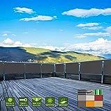 HRUI Windschutz Sichtblende 70x500cm Blickdichte 100% Privatsphäre Pflegeleichtes Atmungsaktiv, Sichtschutz mit ösen, Nylon Kabelbinder und Kordel für den Gartenzaun Balkongeländer