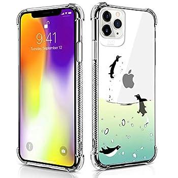 Case Compatible for iPhone 11 Pro Case Flying Penguin Pattern Design Soft TPU Bumper Shockproof Clear Cover Phone Case for iPhone 11 Pro Case 5.8 Inch  2019