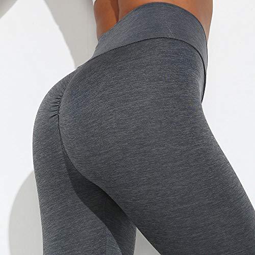 Unieke Power Gym-legging,naadloze yoga-yogabroek voor dames,slanke hippe yoga fitness-perzik-legging - GRIJS_S,hoog getailleerde yogabroek training hardlopen