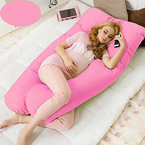 GZSZ Almohada de Maternidad 100% Algodón Almohada De Lactancia Almohada De Levantamiento De Estómago Estiramiento De La Cintura Materna Almohada De Dormir con -Tela Suave F