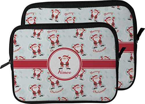 Santa Clause Making Snow Angels Laptop Sleeve/Case - 12' w/Name or Text