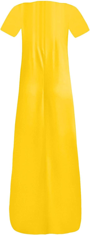 Women's Fashion Dress Colorful Pure Color Print Sleeveless Long Dress Summer Elegant V-Neck Vest Maxi Dress