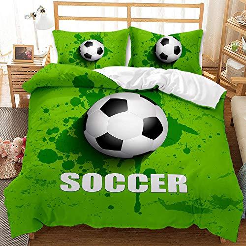 Bedclothes-Blanket Juego de sabanas Cama 150,Dibujo Digital 3D Bosquejo de 3 Piezas Ropa de Cama de 3 Piezas Fútbol-Seducir_210 * 210cm