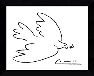 Framed Wall Art Print Dove of Peace by Pablo Picasso 10.88 x 8.88