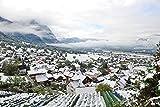 lunaprint Snow Covered Valley In Liechtenstein Europe Home