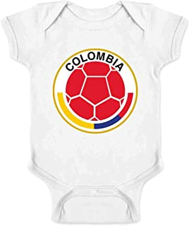 Colombia Futbol Soccer National Team Crest Infant Baby Boy Girl Bodysuit