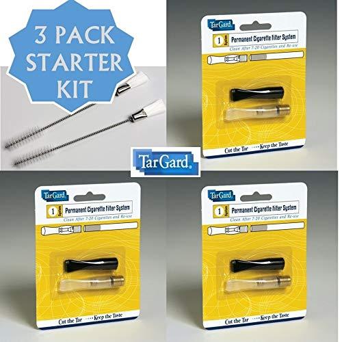 3 pack Ultimate Cleanable Reusable Filter Cigarette Holder Bundle TarGard