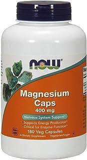 Now Foods, Magnesium Caps, 400 mg, 180 Capsule vegetariane, senza soia, senza glutine