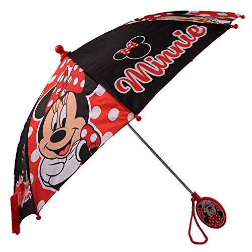 Disney Girls' Little Assorted Character Rainwear Umbrella, Minnie Mouse, Age 3-6
