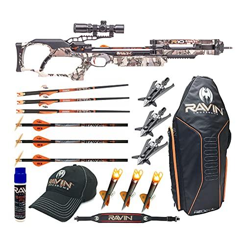 Ravin Crossbows R10 400 FPS Crossbow (Predator Camo) Enthusiast Bundle (8 Items)