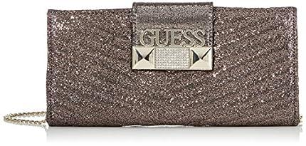 Guess - Jazzie, Bolso de mano Mujer, Plateado (Pewter), 4.5x12x26 cm (W x H L)