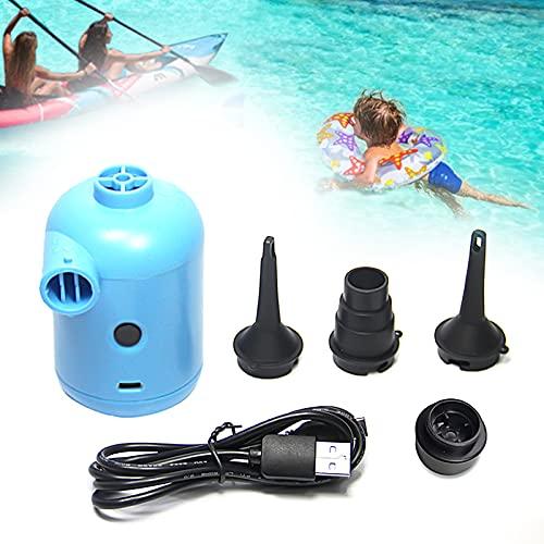 USB Elektrische Luftpumpe Power Pump Elektrische Luftpumpe für luftmatratze Inflate und Deflate Luftpumpe Elektrisch Pumpe mit 3 Luftdüse für Aufblasbare Matratze, Luftmatratze Pool Sofa Boot