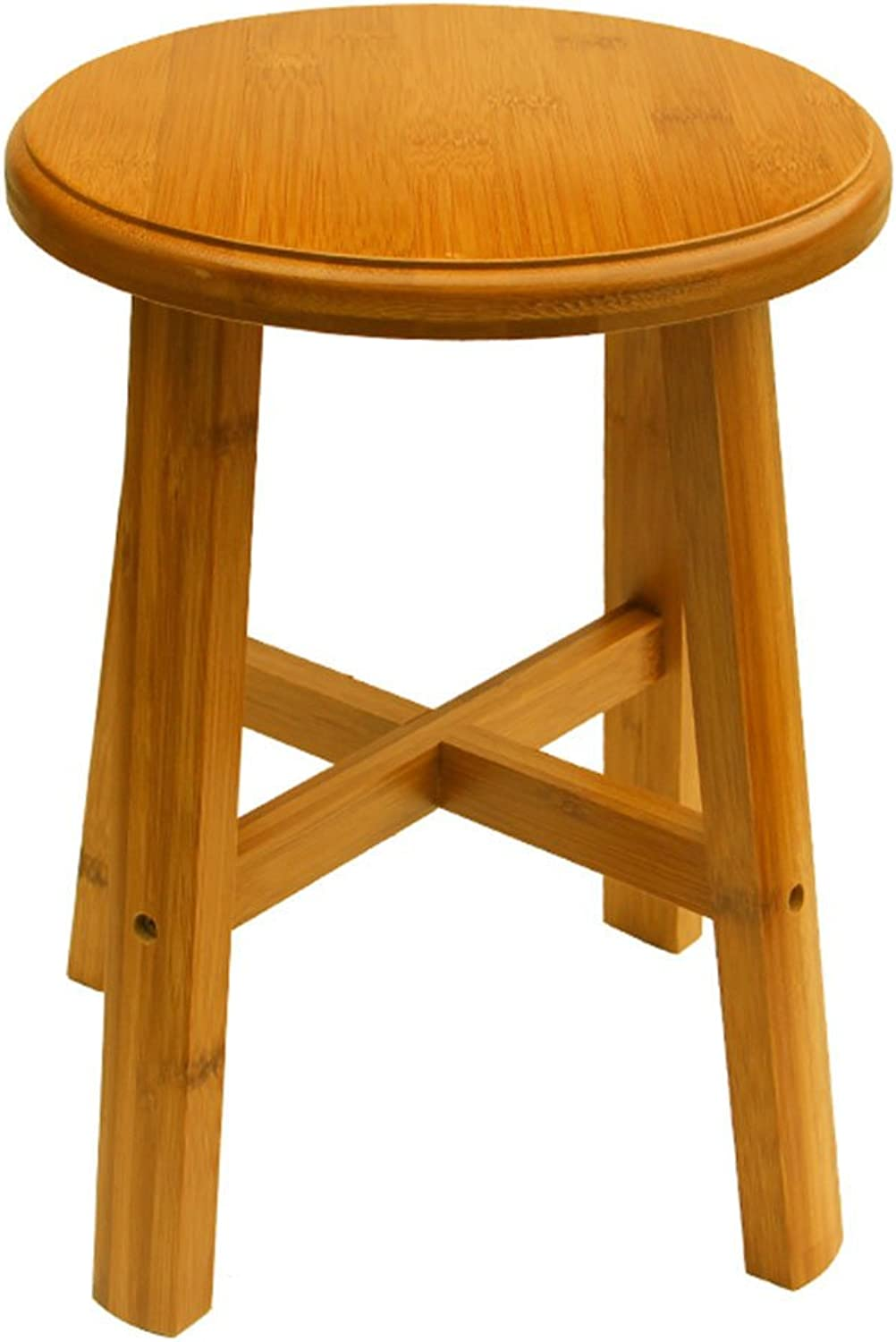 QIDI Stool Solid Wood Indoor Foyer Household Three Styles (color   Style 1)