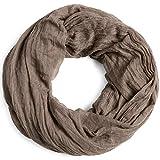 Caspar SC432 Bufanda Infinita para Mujer Bufanda Redonda Vintage, Color:gris pardo, Talla:Talla Única
