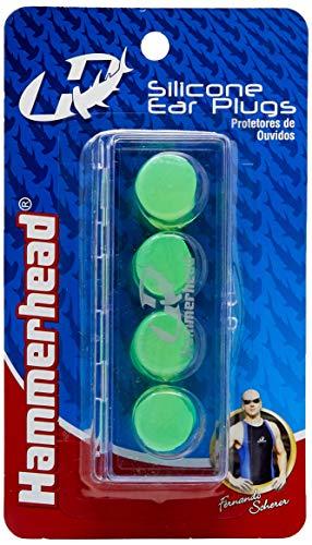 Protetor De Ouvido De Silicone - 4 Peças Hammerhead Unissex Verde Único