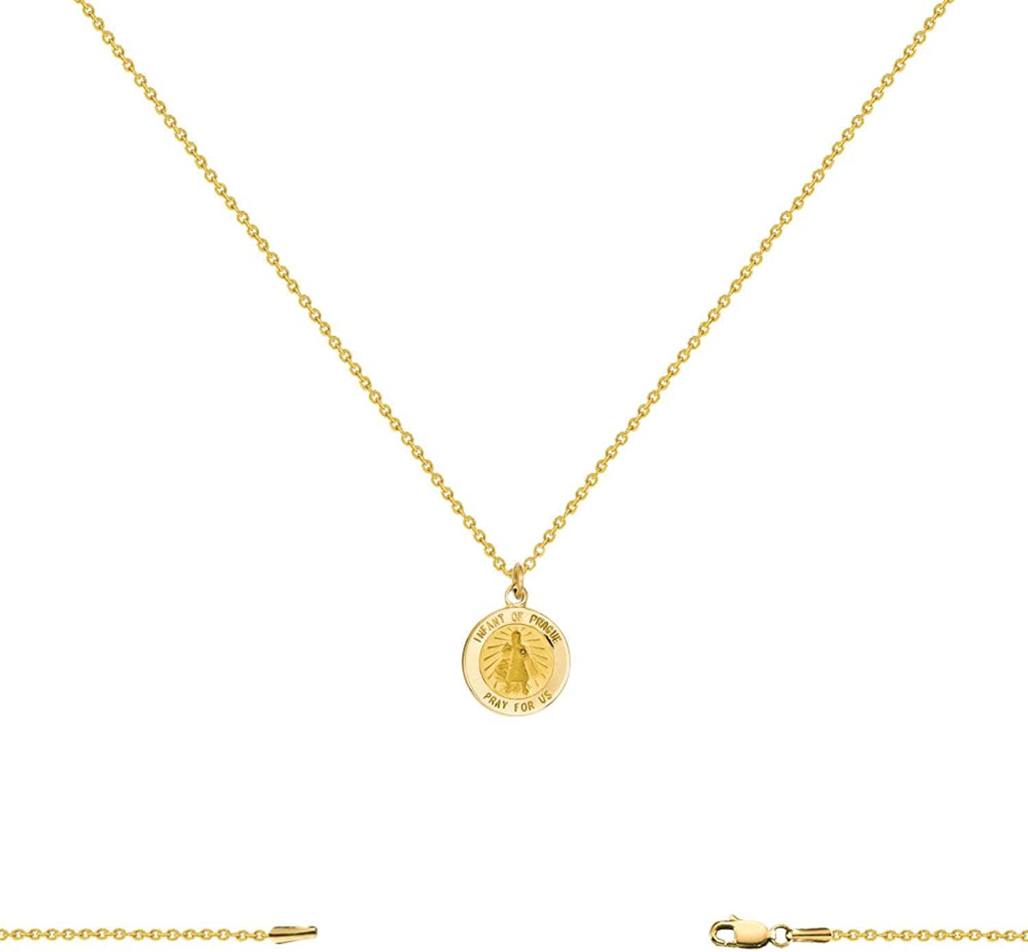 14k Yellow gold Mirror Charm (12x17mm)with 1.3mm Box Chain Necklace 1630 Inch