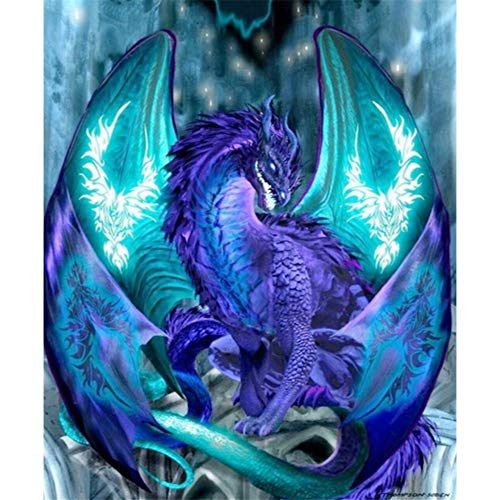 Sunnay Diamond Painting Set,60X50cm,Vogelguter Drache,5D Diamant Painting Set Full Stickerei Groß Bilder DIY Diamonds Malerei