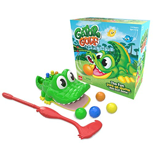 Goliath Games 31240.006 Gator, Play-at-Home Mini Golf, Juego para niños Mayores de 4+, 27 x 27 x 12,5 cm