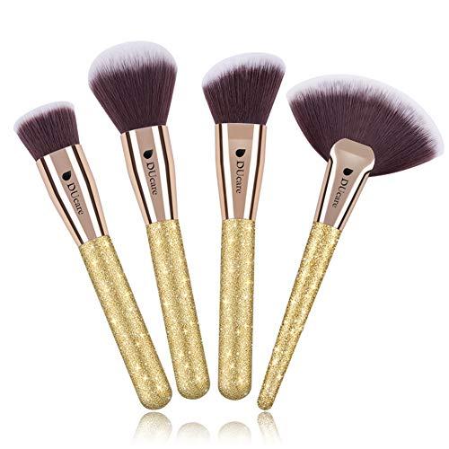 DUcare Kabuki Contour Makeup Brush Set - Large Foundation Powder Synthetic Highlighting Kit - Cream Blush Powder Flat Nose Cheek Round Small Angled Fan Tapered Precision Kabuki Foundation Kit