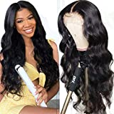 UNice Hair Body Wave 13x6 Deep Part Lace Frontal Human Hair Wig,10A Brazilian Virgin Human Hair Wigs 150% Density Pre Plucked With Baby Hair (14 inch)