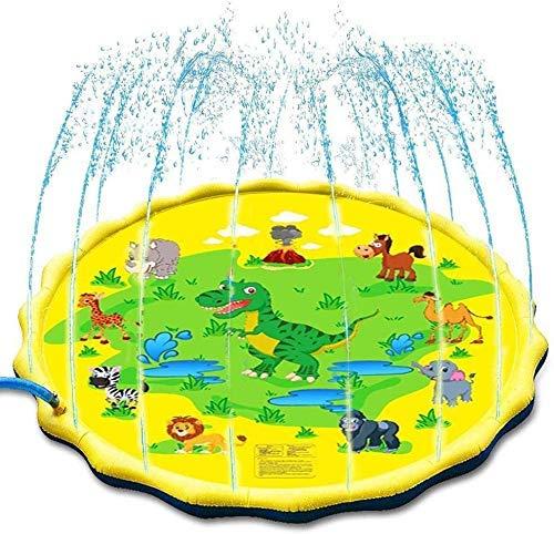 HAOSHUAI Cospargere e Splash Gioca Mat, all'aperto Giocattoli Bambini del Bambino Estiva Play Beach Outdoor Garden Lawn Sprinkler Cuscino, Giallo (Color : Yellow)