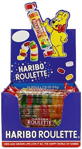 Haribo Roulettes, 7/8 oz. Rolls-Nuevo paquete de tamaño súper grande 72 unidades nuevo paquete de tamaño por Hairbo