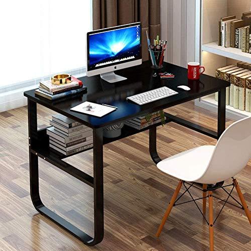 HAOHAO Computadora de Escritorio para la Oficina en casa, Mesa de Oficina con Gruesa, Escritorio-h 100x60x72cm Estructura Sencilla Mesa Resistente en Industrial Metal Tipo Estudio (39x24x28in),i.