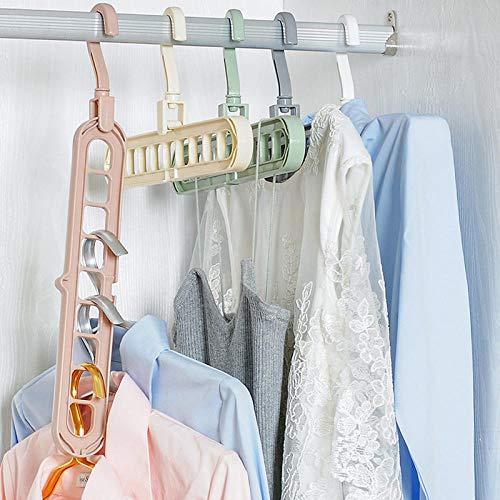 zhaoyangeng 1 stuk multifunctionele poort ondersteuning cirkel kledinghangers ruimtebesparende magie rok wasrek kunststof sjaal haak kledingkast organizer ittem @ Green_B