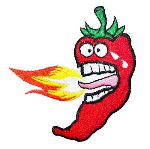 Parche Bordado termoadhesivo Rojo diseño Boca Fuego