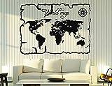 Mapa del mundo vinilo etiqueta de la pared personalizada ventana vidrio decoración cocina etiqueta de la pared