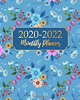 2020-2022 Monthly Planner: Blue Flower Business Planners Five Year Journal 36 Months Calendar Agenda Schedule Organizer January 2020 to December 20222 With Federal Holidays And Inspirational Quotes