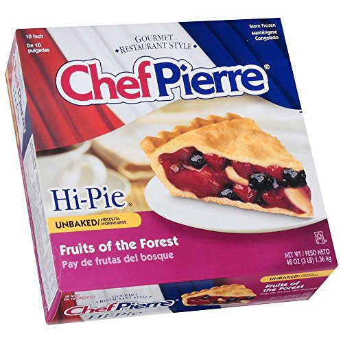 Sara Lee Chef Pierre Unbaked Fruits of the Forest High Pie, 10 inch -- 6 per case.
