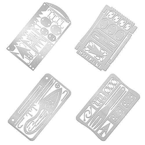 JUNKAI Survival Cards, Outdoor Multifunction Portable Fishhook Fish Hook Best Multitool for Camping and Wilderness Survival Credit Preppers Gear Fishing Camping Hiking Hunting Emergency Kit