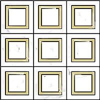 APSOONSELL 立体 タイルシール【4枚セット】3D 壁紙シール キッチン 洗面所 トイレ 玄関 25.4*25.4cm 防水 DIY タイルシート はがせる