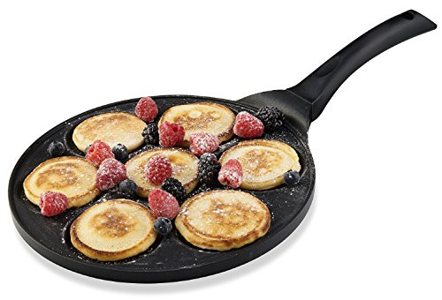 Gourmia GPA9510 Blini Pan Nonstick Silver Dollar Pancake Pan With 7-Mold Design 100% PFOA free non-stick coating …