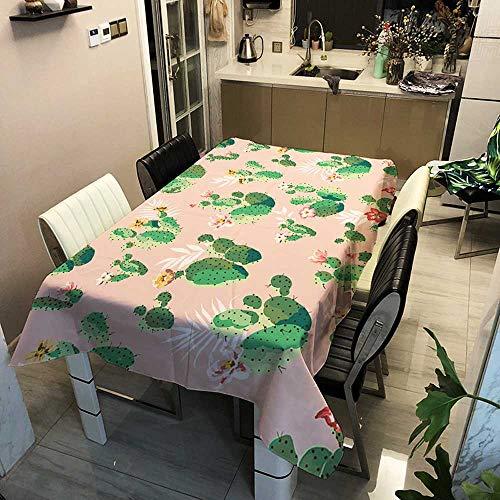 XXDD Tovaglia Rettangolare Impermeabile tovaglietta da Tavolo con Stampa Digitale Cactus tovaglia da Giardino per Feste A10 150x210cm