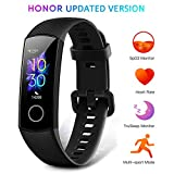 HONOR Band 5 Montre Connectée Bracelet Connecté Podometre Cardio Homme Femme Enfant Smart Watch Android iOS Etanche IP68 Smartwatch Sport Running Sommeil Calorie, Noir