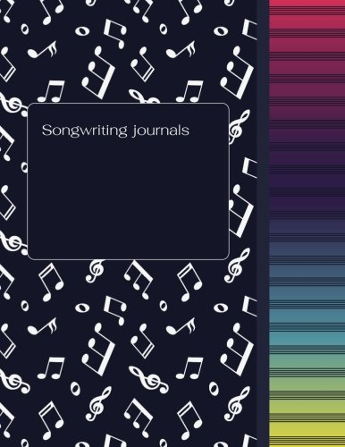 Songwriting Journal: Music Journal (Diary, Notebook), 20 Stave Manuscript Sheets Notation Paper For Composing For Musicians,Teachers, Students, … x 11″: Volume 1 (Manuscript Paper Notebook)