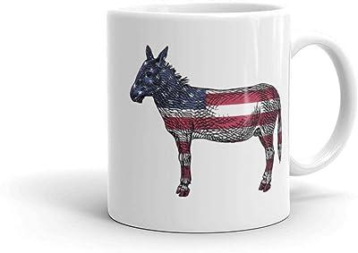 民主党 ロバ コーヒーマグ アメリカコーヒーマグ セラミック 11オンス ホワイト