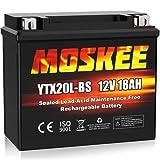 Moskee YTX20L-BS Motorcycle Battery High Performance - Maintenance Free - Sealed AGM 12V 18Ah ATV Battery For Honda Yamaha Suzuki Kawasaki