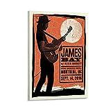 XYDQ James Bay Konzert-Vintage-Poster, dekoratives