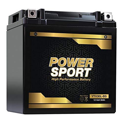 ExpertPower YTX30L-BS Motorcycle Battery Replaces Yuasa YIX30L, Harley Davidson Polaris Sportsman -...