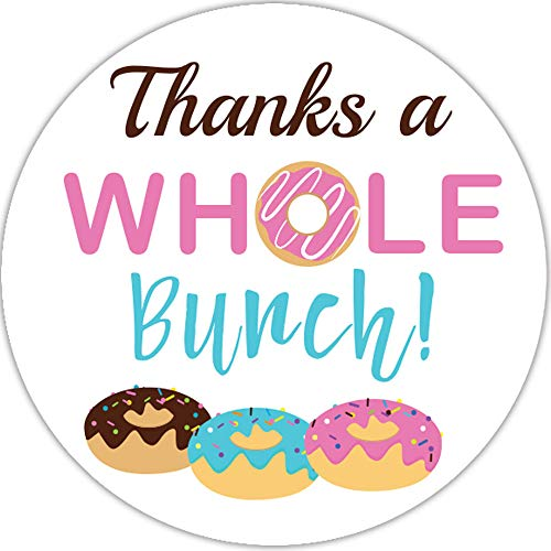 2 Inch Donut Thank You Stickers Baby Shower Favor 60 Labels (Whole Bunch)