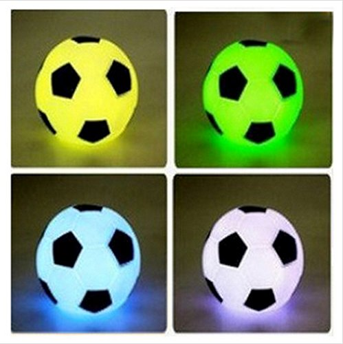 LOT 12 COLLIER BALLON DE FOOT LUMINEUX 4 CM COLORÉ MODE