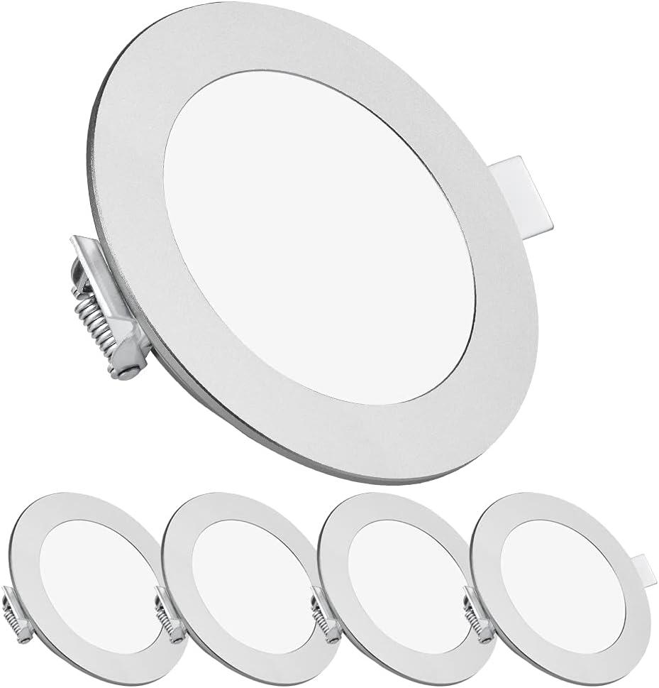 acegoo 4 x Foco Empotrable 12V LED Luz de Techo Downlight 4,5W4000K para Autocaravana Barco Furgoneta Baño Cocina, Impermeable IP65 Aluminio 340LM Bianco neutro