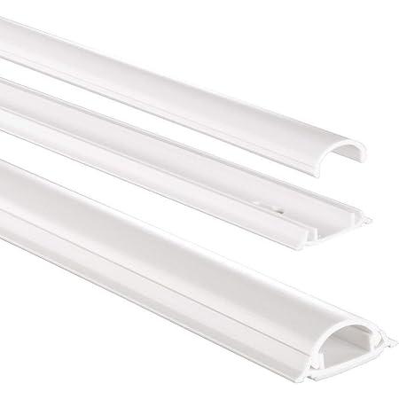 Hama Stabiler Kabelkanal Aus Aluminium Weiß 1 1 Meter Länge Für 5 Kabel Robuste Eckige Metall Kabelabdeckung Baumarkt